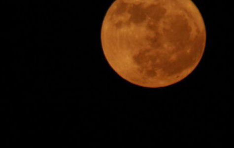 This was an example of the blue moon you will see this Halloween. This year's blue moon did not illuminate a blue light.